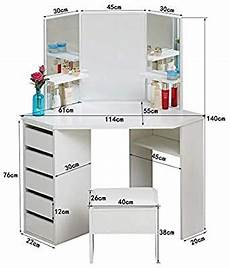 clipop white corner dressing table set makeup desk with 5