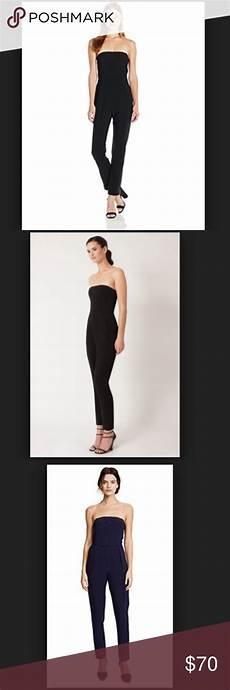 black halo iris strapless black jumpsuit 2 black
