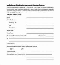 Cohabitation Agreement Sample Free 7 Sample Cohabitation Agreement Templates In Google