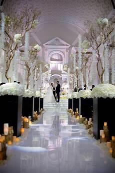 black and white glamorous wedding aisle society