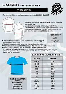 Anatomic Chart T Shirt Sizing Chart Anatomic Anatomic Sportswear