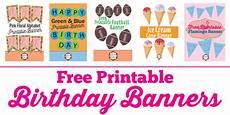 Free Happy Birthday Banner Printables Free Printable Birthday Banner Ideas