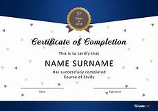 Free Online Certificates 40 Fantastic Certificate Of Completion Templates Word