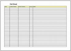 Call Sheet Template Excel Call Sheet Template Cyberuse