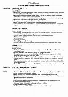 Public Relations Assistant Resume Pr Executive Resume Samples Velvet Jobs