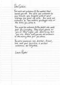 How To Write A Letter To A Soldier Letter To An Unknown Soldier Lettering Unknown Soldier