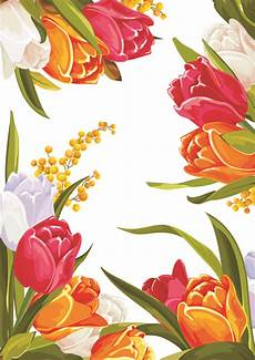 Flower Designs Colored Beautiful Flowers Design Graphics Vector For Free