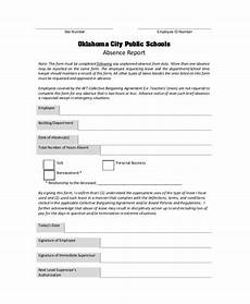 Employee Absence Report Employee Absence Form Template Planning Template