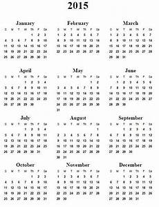 Free Printable Yearly Calendar Templates 2015 2015 Calendar Printable Free Calendar Printables 2015