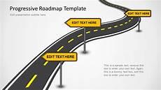 Powerpoint Roadmap Template Free Progressive Roadmap Powerpoint Template Slidemodel