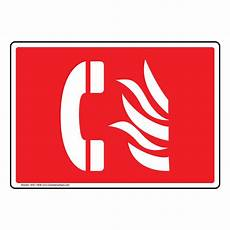 Emergency Contact Sign Fire Emergency Phone Symbol Sign Nhe 13836 Emergency