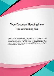 Word Background Templates Abstract Background With Curve Line Pattern Word Template