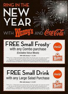 New Year Coupons Wendy S New Year Coupons Ftw