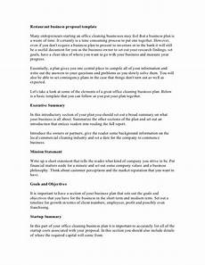 Business Proposals Templates Free Printable Business Proposal Form Generic