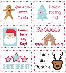 Printable Christmas Note Cards Free Printable Christmas Lunch Notes Cookies Coffee And