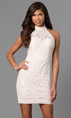 ivory lace dave and johnny graduation dress promgirl