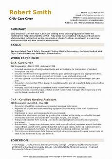 Objectives For Cna Resumes Cna Resume Samples Qwikresume