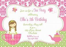 Clipart Tea Party Invitation Collection