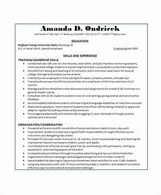 Example Of Skills In A Resume Free 8 Basic Resume Samples In Ms Word Pdf
