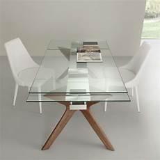tavoli in vetro e acciaio tavolo moderno allungabile in acciaio inox e vetro