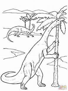 yunnanosaurus prosauropod dinosaur coloring page free