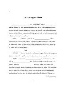 Free Downloadable Will Forms Free Printable Last Will And Testament Form Generic