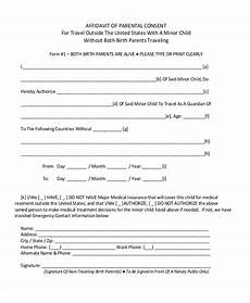Child Travel Consent Form Samples Free 8 Sample Child Travel Consent Forms In Pdf Doc