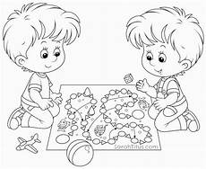 Malvorlagen Spielende Kinder Coloring Pages Children Coloring Home
