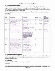 Sample Business Requirements Document 40 Simple Business Requirements Document Templates