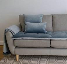 slate grey velvet luxury sofa topper the stylish company