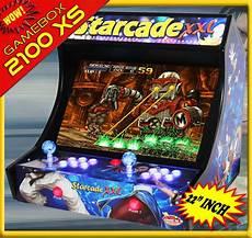 console e mania shop starcade xs 2100 in 1 deluxe bartop 22 inch arcadomania shop