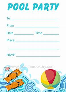 Pool Party Invites Free Printables Printable Pool Party Invitation