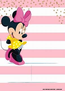 Free Printable Minnie Mouse Invitations Minnie Mouse Invitation Template Editable And Free