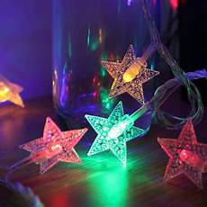 A String Of 15 Christmas Tree Lights 5m 6m Christmas Lights Outdoor Indoor Led Stars String