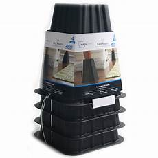 mainstays home management bed risers black 4 pack