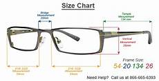 Eyeglasses Measurements Chart Frame Size Information Simplysafetyglasses Com