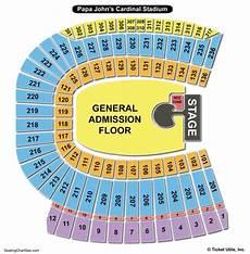 Uofl Cardinal Stadium Seating Chart Papa John S Cardinal Stadium Seating Chart Seating