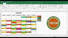 Create A Schedule Tech 011 Create A Calendar In Excel That Automatically