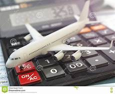 Travel Costs Calculator Travel Cost Calculation Concept Airplane And Calculator