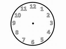 Malvorlage Uhr Ohne Zeiger Clock Printable Activity Shelter