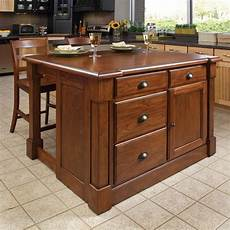 kitchen island styles shop home styles brown midcentury kitchen islands 2 stools