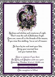 Sample Halloween Invitations Tips For Choosing Halloween Wedding Invitations
