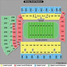 Shorts Stadium Seating Chart Georgia Tech Yellow Jackets Football Tickets 2018