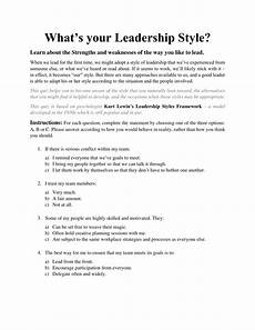 Describe Your Leadership Style Pdf What S Your Leadership Style