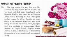 Essay On My Favourite Teacher Unit 25 My Favorite Teacher Listening Practice Through