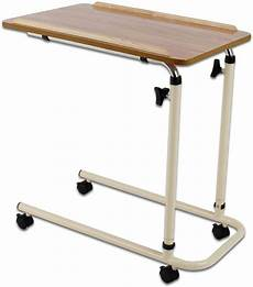 performance health overbed table with castors adjustable