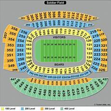 Soldier Field Seating Chart Chicago Bears Tickets 2018 Bears Tickets