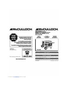 Mcculloch Fg6000mk Manuals