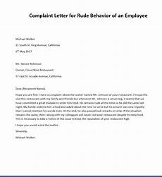 Complaint Letter Format 2 Sample Complaint Letters For Rude Behavior Writing