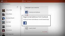 Facebook Address Import Facebook Email Addresses Into Outlook Hotmail